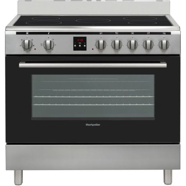 Montpellier MR90CEMX Free Standing Range Cooker in Stainless Steel