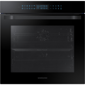 Samsung Prezio Dual Cook NV75R7546RB Integrated Single Oven in Black Glass