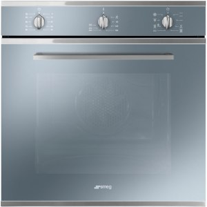 Smeg Cucina SF64M3TVS Integrated Single Oven in Silver Glass