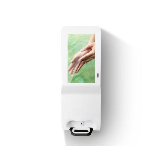 Hygiene Tech Digital signage screen with hand sanitiser - plug and play USB