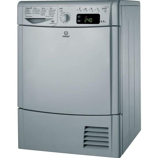 Indesit IDCE8450BSH EcoTime 8kg Freestanding Condenser Tumble Dryer - Silver