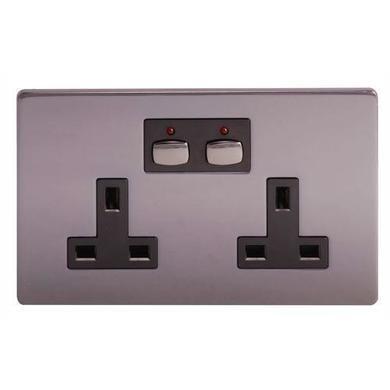 Energenie MiHome Style -  Double Socket - nickel