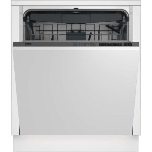 Beko DIN28R22 Fully Integrated Standard Dishwasher - Silver Control Panel with Fixed Door Fixing Kit - A++ Rated