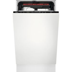 AEG FSE72507P Fully Integrated Slimline Dishwasher - Black Control Panel - A++ Rated