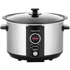 Morphy Richards Digital Sear And Stew 460004 3.5 Litre Slow Cooker - Stainless Steel