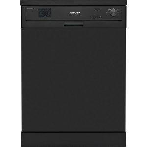Sharp QW-HX13F472B Standard Dishwasher - Black - A++ Rated