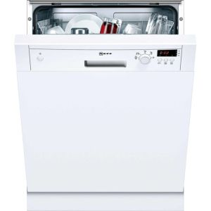 NEFF N30 S41E50W1GB Semi Integrated Standard Dishwasher - White Control Panel with Fixed Door Fixing Kit - A+ Rated