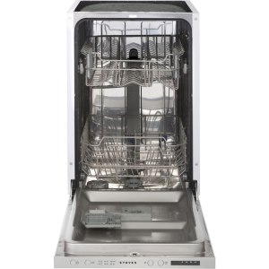 Stoves SDW45 Fully Integrated Slimline Dishwasher - Silver Control Panel with Fixed Door Fixing Kit - A++ Rated