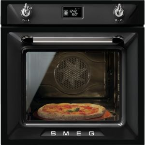 Smeg Victoria SFP6925NPZE1 Built In Electric Single Oven - Black - A+ Rated