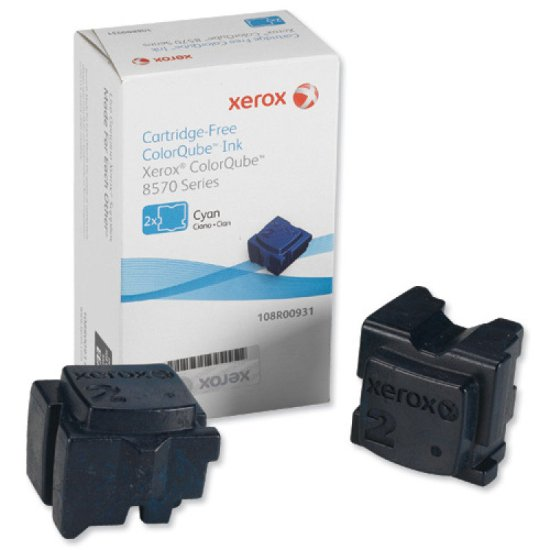 Xerox Dry ink in color-stix, 4.4K pages,Pack of 2 cyan