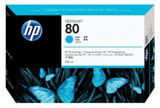 HP 80 Cyan Original Ink Cartridge - Standard Yield 175ml - C4846A