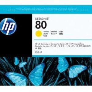 HP 80 Yellow Original Ink Cartridge - Standard Yield 175ml - C4848A