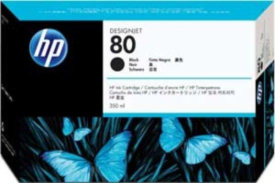 HP 80 Black Original Ink Cartridge - Standard Yield 175ml - C4871A