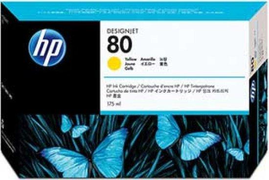 HP 80 Yellow Original Ink Cartridge - Standard Yield 175ml - C4873A