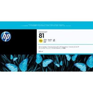 HP 81 Yellow Original Ink Cartridge - Standard Yield 680ml - C4933A