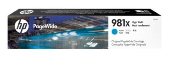 HP 981X Cyan Original Ink Cartridge - High Yield 11000 Pages - L0R09A