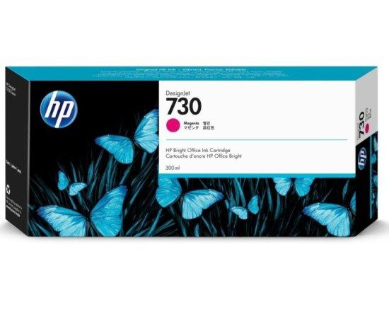 HP 730 Magenta Original Designjet Ink Cartridge - High Yield 300ml - P