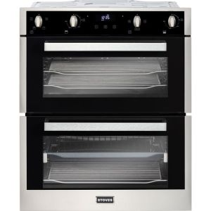 Stoves ST BI702MFCT Built Under Double Oven - Stainless Steel - A/A Rated