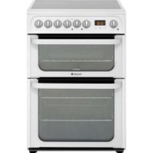 Hotpoint Ultima HUE61PS Electric Cooker with Ceramic Hob - White - A/A Rated AO SALE