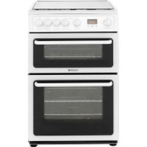 Hotpoint HAGL60P 60cm Gas Cooker - White - A+/A Rated AO SALE