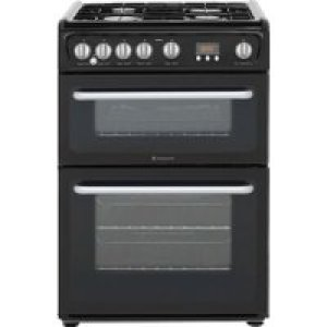 Hotpoint Newstyle HARG60K 60cm Gas Cooker with Variable Gas Grill - Black - A+/A Rated AO SALE