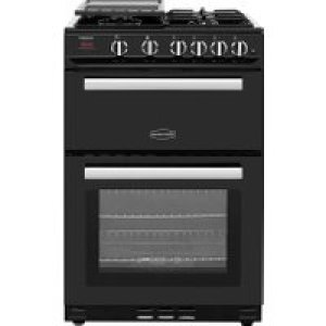 Rangemaster Professional Plus 60 PROP60NGFBL/C 60cm Gas Cooker with Variable Gas Grill - Black / Chrome - B/B Rated AO SALE