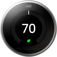 Nest Learning Smart Thermostat 3rd Gen - Requires Professional Install - Black   AO SALE