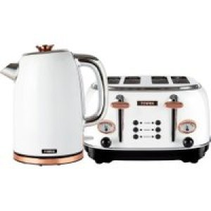 Tower AOBUNDLE003 Kettle And Toaster Sets - White / Rose Gold   AO SALE
