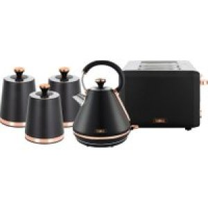 Tower Cavaletto AOBUNDLE020 Kettle And Toaster Sets - Black / Rose Gold   AO SALE