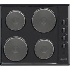 Electra BISH4B 58cm Solid Plate Hob - Black AO SALE