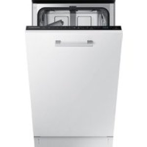Samsung DW50R4060BB Fully Integrated Slimline Dishwasher - Black Control Panel with Fixed Door Fixing Kit - A++ Rated   AO SALE