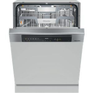 Miele G7315SCiXXL Wifi Connected Semi Integrated Standard Dishwasher - Clean Steel Control Panel with Fixed Door Fixing Kit - A+++ Rated   AO SALE