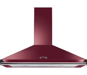 Rangemaster Classic CLAHDC110CY/C 110 cm Chimney Cooker Hood - Cranberry / Chrome - E Rated  AO SALE