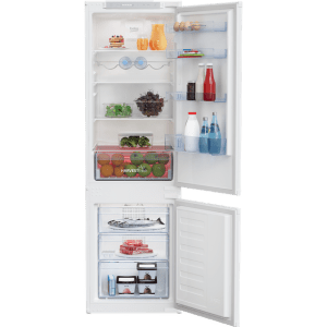 Beko HarvestFresh BCFD3V73 Integrated 70/30 Frost Free Fridge Freezer with Sliding Door Fixing Kit - White - A++ Rated  AO SALE