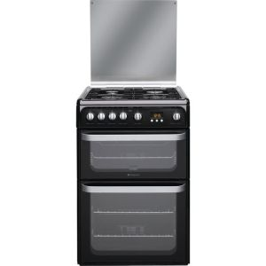 Hotpoint Ultima HUG61K 60cm Gas Cooker with Variable Gas Grill - Black - A+/A Rated AO SALE