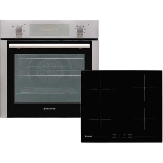 Hoover HPKCER60X/E Built In Electric Single Oven and Ceramic Hob Pack - Stainless Steel - A Rated AO SALE