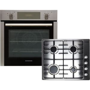 Hoover HPKGAS60X/E Built In Electric Single Oven and Gas Hob Pack - Stainless Steel - A Rated AO SALE