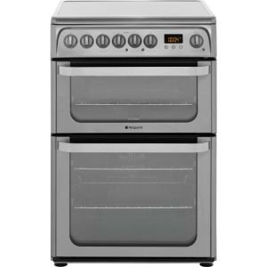 Hotpoint Ultima HUE61XS Electric Cooker with Ceramic Hob - Stainless Steel - A/A Rated AO SALE