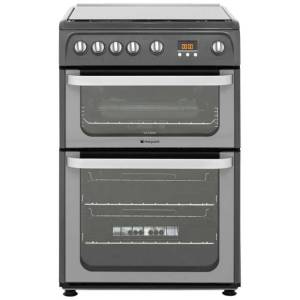 Hotpoint Ultima HUG61G 60cm Gas Cooker with Variable Gas Grill - Graphite - A+/A Rated  AO SALE