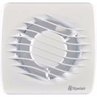 Xpelair DX100T 4 100mm Square Bathroom Extractor Fan With Timer