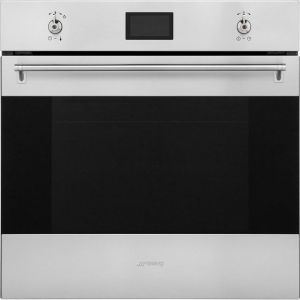 Smeg Classic SF6390XE Built In Electric Single Oven - Stainless Steel - A+ Rated AO SALE