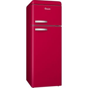 Swan Retro SR11010RN 80/20 Fridge Freezer - Red - A+ Rated  AO SALE
