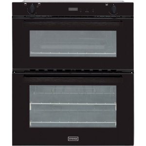 Stoves SGB700PS Built Under Gas Double Oven with Full Width Electric Grill - Black - A/B Rated AO SALE