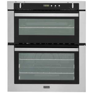 Stoves SGB700PS Built Under Gas Double Oven with Full Width Electric Grill - Stainless Steel - A/B Rated AO SALE