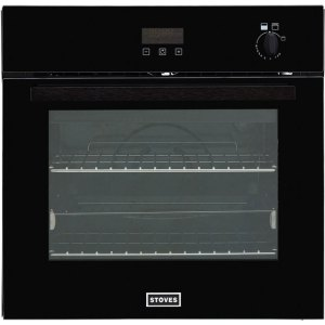 Stoves ST BI600G Built In Gas Single Oven with Full Width Electric Grill - Black - A+ Rated AO SALE
