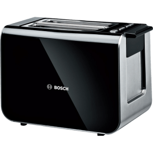 Bosch Styline TAT8613GB 2 Slice Toaster - Black / Stainless Steel  AO SALE