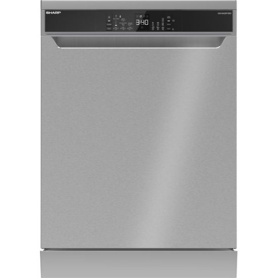 Sharp QW-NA26F39DI-EN Standard Dishwasher - Stainless Steel - A+++ Rated