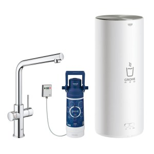 Grohe 30340001 Red Duo Instant Boiling Water Tap and L Size Boiler - CHROME