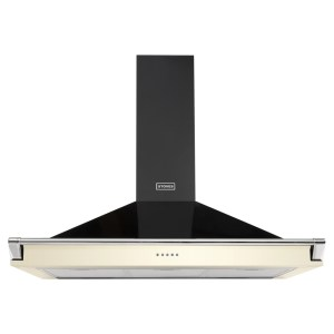 Stoves S1100RICHCHIMRAILCRM 110cm Chimney Hood With Rail - CREAM