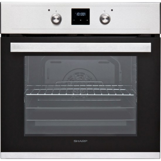 Sharp K-60D19IM1-EU Built In Electric Single Oven - Stainless Steel - A Rated
